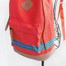 Unisex Crossband Pattern Travel Backpack Canvas Leisure School Bag Rucksack FE