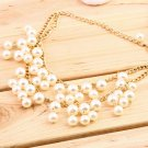Hot Fashion Women Charm Faux Pearl Tassel Pendant Chain Necklace Jewelry FE