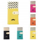 Women Cute Leatheroid Moustache Beard Purse Long Wallet Card Holder New FE