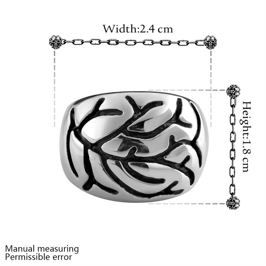 Men's Jewelry Punk 316L Stainless Steel Finger Band Ring Fashion Gift FE