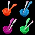 New 4 in 1 DIY Facial Mask Mixing Bowl Brush Spoon Stick Tool Face Care Set  FE