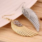 Womens Hot Fashion Rhinestone Angel Wings Earrings Drop Dangle Earrings FE