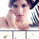 Fashion Women Hollow Rhinestone Crystal Tear Drop Sweater T-shirt Necklace FE
