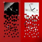 3D Fashionable Quartet Seck Style Wall Clock for Home Decorations  FE