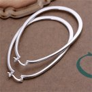 Fashion Women Smooth U-Shape Hoop Dangle Earrings Noble Jewelry Gift FE