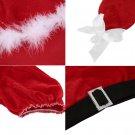 Sexy Women Christmas Xmas Santa Fancy Dress Costume Outfit Top Shorts Set DF