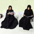 Supper Home Winter Warm Fleece Snuggie Blanket Robe Cloak With Sleeves  FE