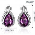 1 Pair Women Fashion Rhinestone Crystal Waterdrop Earrings Ear Stud Jewelry FE