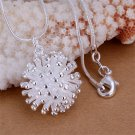 New Simple Women Charm Clear Silver Fireworks Necklace Pendant Gift DIY FE