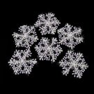 3pcs Classic White Snowflake Ornaments Christmas Holiday Party Home Decor FE