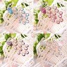 Peacock Hair Pins Comb Bridal Wedding Accessories Rhinestone Crystals New FE