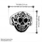 Vintage 316L Stainless Steel Gothic Skull Finger Ring Size 8 Men's Jewelry FE