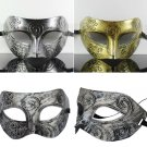 New Men's Retro Roman Gladiator Face Costume Halloween Dancing Party Mask FE