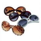 Womens Retro Inspired Baroque Round Sunglasses Sun Glasses with Swirl Arms CAF