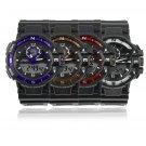 Double Movement Multi Large Dial Sports Waterproof Quartz Wrist Watch FE