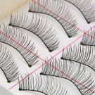 1set/10 Pairs Handmade Fake False Eyelash Lashes Natural Transparent Black FE