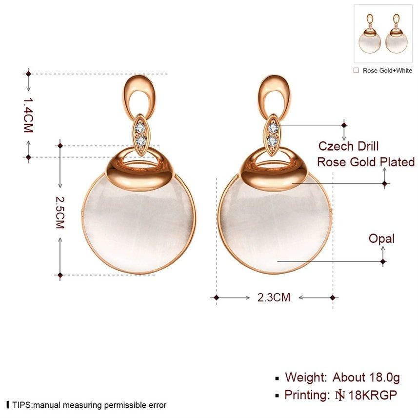 Elegant Fashion Women New Water Drop Shape Rose Gold  Opal Earrings Accessory FE