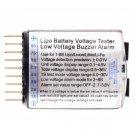 1-8S Lipo/Li-ion/Fe Battery Low Voltage Meter Tester Buzzer Alarm FE