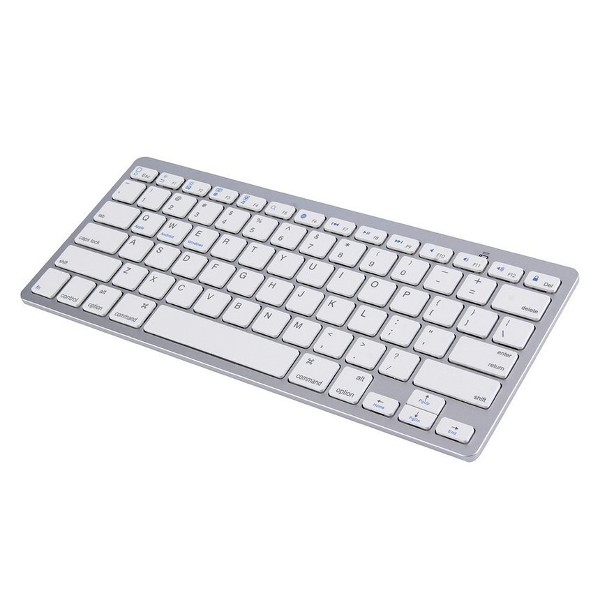 New Silver Wireless Bluetooth Keyboard For Android MAC Windows OS System FE