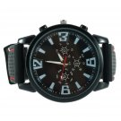 Luxury Military Pilot Army Outdoor Style Silicone Mens Wrist Watch FE