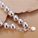 Fashion Unisex Silver Plating Hollow Round Beads Bracelet Bangle Jewelry FE