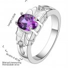 New Simplism Charming Jewelry Oval Purple Zircon Ring Beautiful Gift Ring FE