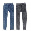 Women Stretch Denim Jean Look Skinny Leggings Slim Jeggings Tight Pants FE
