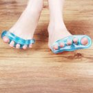 2pcs Silica Gel Toe Separator Stretcher Straightener Alignment Bunion Pain  FE