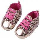 Newborn Baby Infant Toddler Unisex Leopard Crib Shoes Walking Sneaker Gift FE
