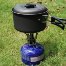 Outdoor Picnic Butane Gas Burner Portable Camping Mini Steel Stove Case FE