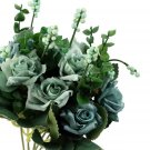 10 Heads Artificial Roses Flowers Bouquet Wedding Party Home Floral Decor FE