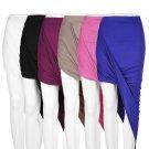 Draped Asymmetrical High Waisted Stretch Bodycon Low Mini Maxi Skirts New EF