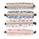 Girls Flower Lace Floral Pencil Case Pen Bag Purse Cosmetic Makeup Pouch Bag EF