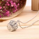 Fashion Crown Cross Crystal Rhinestone Charm Pendant Sweater Chain Necklace FE