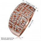 Fancy Geometric Shape Faux Crystal Alloy Zircon Rose Golden Rings FOR Gift FE