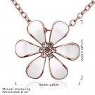 Zircon Woman Cute Flower Pattern Rose Gold-plated Necklace for Gift FE