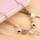Sweet Lady Delicate Opal Beads Pendant Clavicle Chain Necklace Jewelry FE