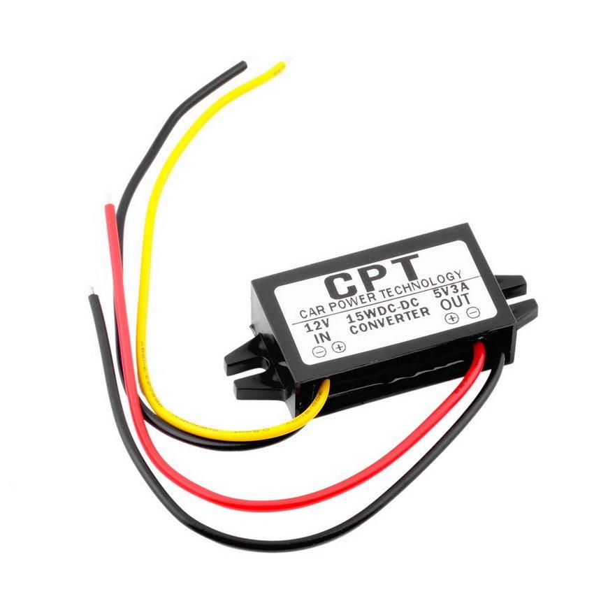 1PCS DC/DC Converter Regulator 12V to 5V 3A 15W Car Led Display Power FE