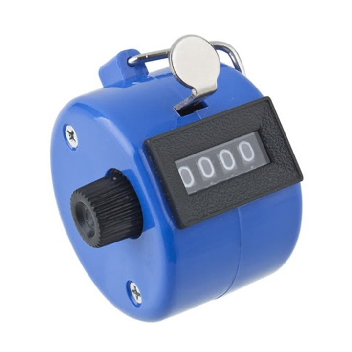 Plastic Handheld 4 Digit display Number Tally Counter Clicker Golf Blue FE