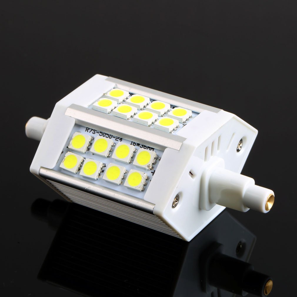 R7S 24 SMD5050 LED 85~265V 5W Floodlight Replacement Lamp Cool White FE