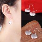 Women Silver-Plated Heart Dangle Drop Hook Earrings Charm Jewelry FE