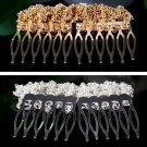 Women Chic Hair Cuff Pin Head Band Chains 2 Combs Tassels Fringes Boho Punk FE