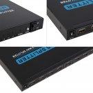 New Black T-108 3D Full 1080P HDMI 1x8 8 Way Splitter Hub High Definition FE