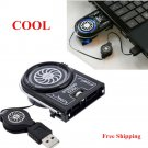Mini Vacuum USB Cooler Air Extracting Cooling Pad Fan For Laptop PC Notebook Mac