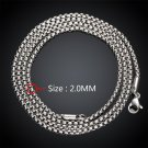 2mm Vintage Punk 316L Stainless Steel Curb Chain Link Necklace Jewelry DIY FE