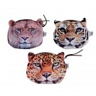 Women Animal Head Pattern Coin Purse Small Zipper Bag Mini Wallet Pocket FE