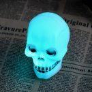 Halloween Colorful Flash LED Skull Night Light Lamp Decoration Gift Favor FE