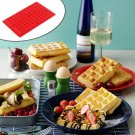 Safety 4-Cavity Waffles Cake Chocolate Pan Silicone  Baking Mould Donut Maker