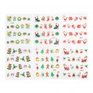 6 sheet Christmas Snowflakes Design Xmas 3D Nail Art Stickers Decals Decoration
