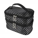 Hanging Dot Zip Cosmetic Bag Makeup Pouch Travel Toiletry Organizer Handbag FE